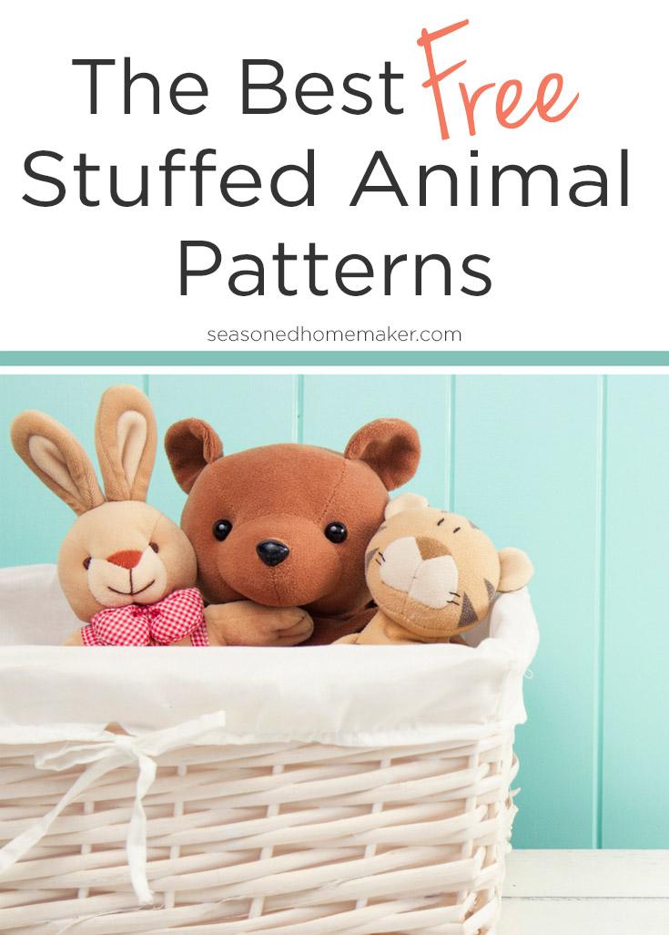 The Cutest Free Stuffed Animal Patterns #stuffedtoyspatterns