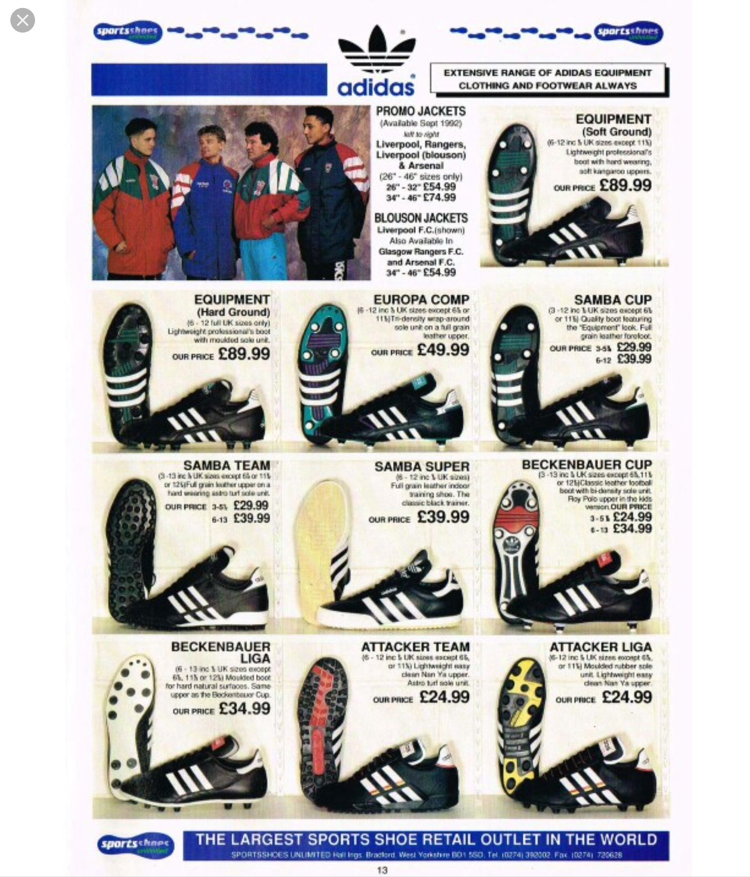 adidas Vintage Football Boot History Archive Images   Soccer