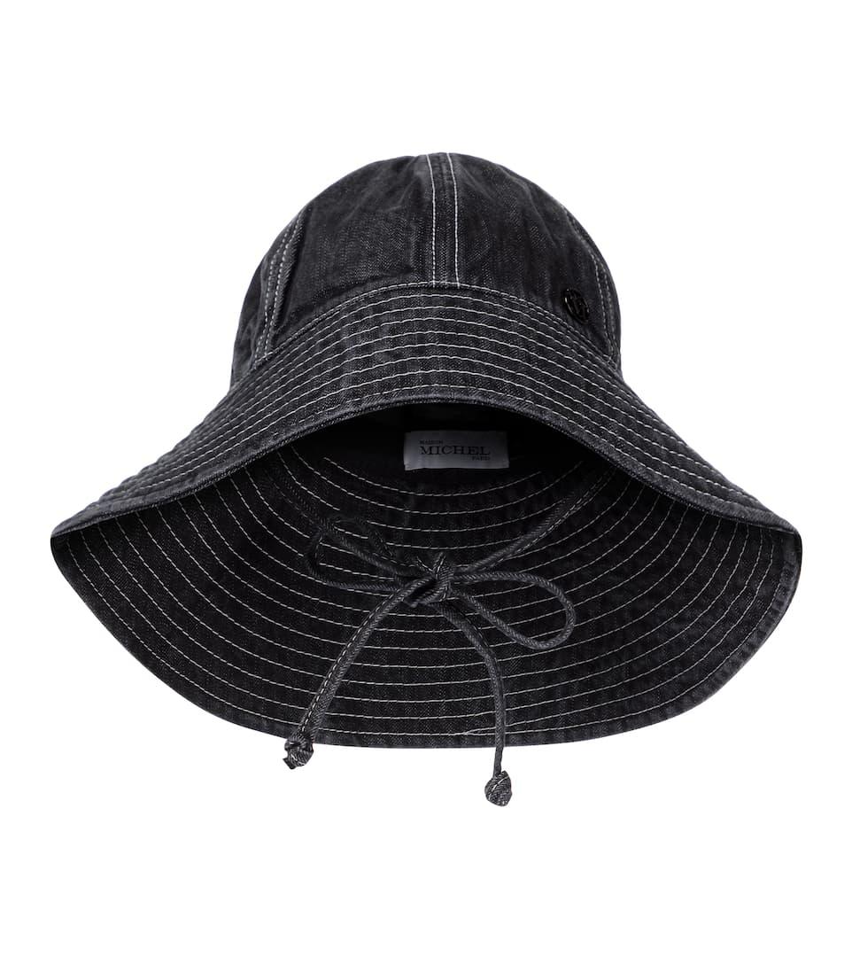 Julianne Denim Bucket Hat In 2021 Denim Bucket Hat Hats Maison Michel