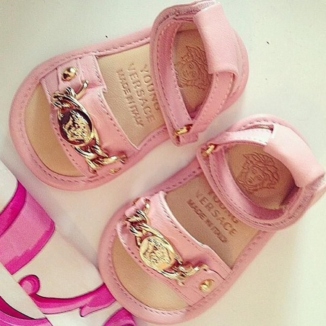 9229cd884230b Baby Versace sandals | Baby Fever | Gucci baby, Baby girl fashion ...