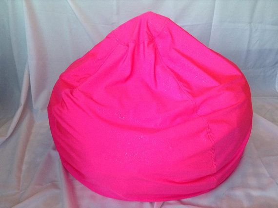 Large Stretchy Bright Pink Bean Bag Chair COVER By AnhLineShop