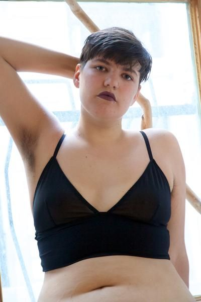 1d8555372a Sheer Mesh and Bamboo Longline Bralette by Origami Customs. A great  alternative to an underwire