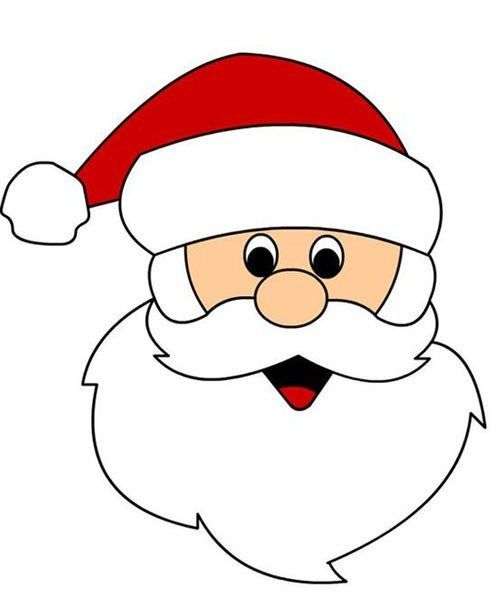 62 Santa Claus template Rosto papai noel Imagens de
