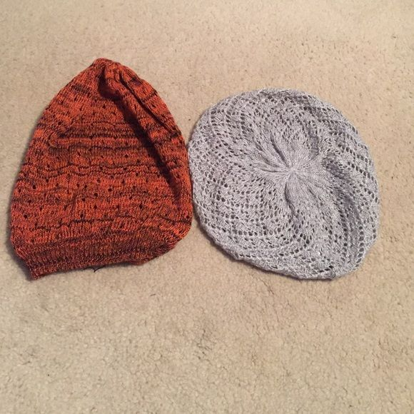 5f7c417cdb9fc Beret Bundle Never worn! The orange one is more like a beanie. All good  condition! Hot Topic Accessories Hats