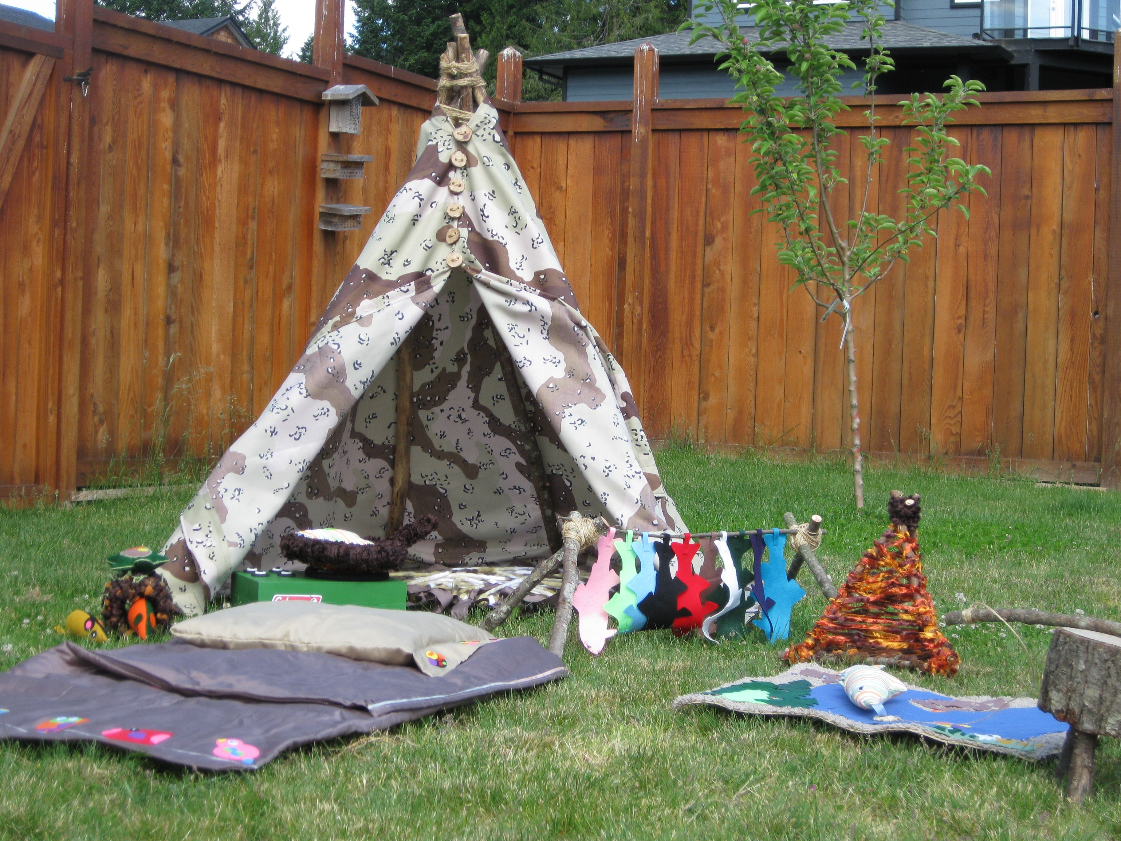 Tent camping equipment and supplies for toddler