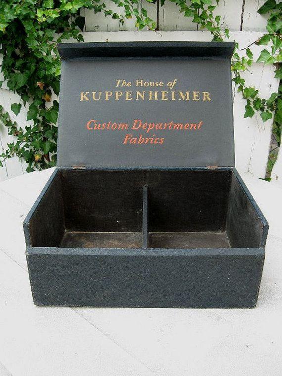 Large Vintage Store Display Box for Kuppenheimer Mens Custom Fabric Samples Storage