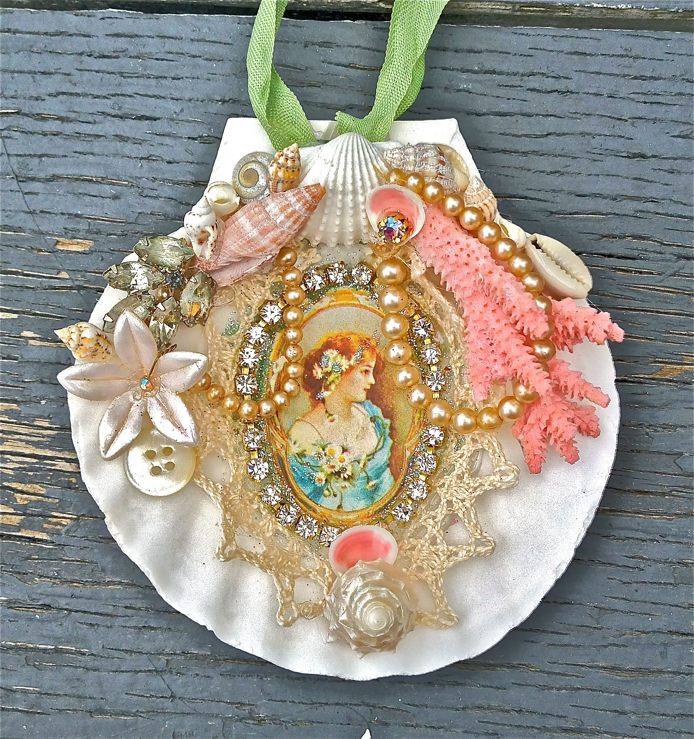 fun seashell ornaments available in my shop
