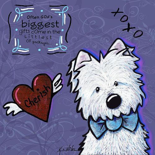 Westie Wall Art Print By Kim Niles Westie Dogs Westies Art