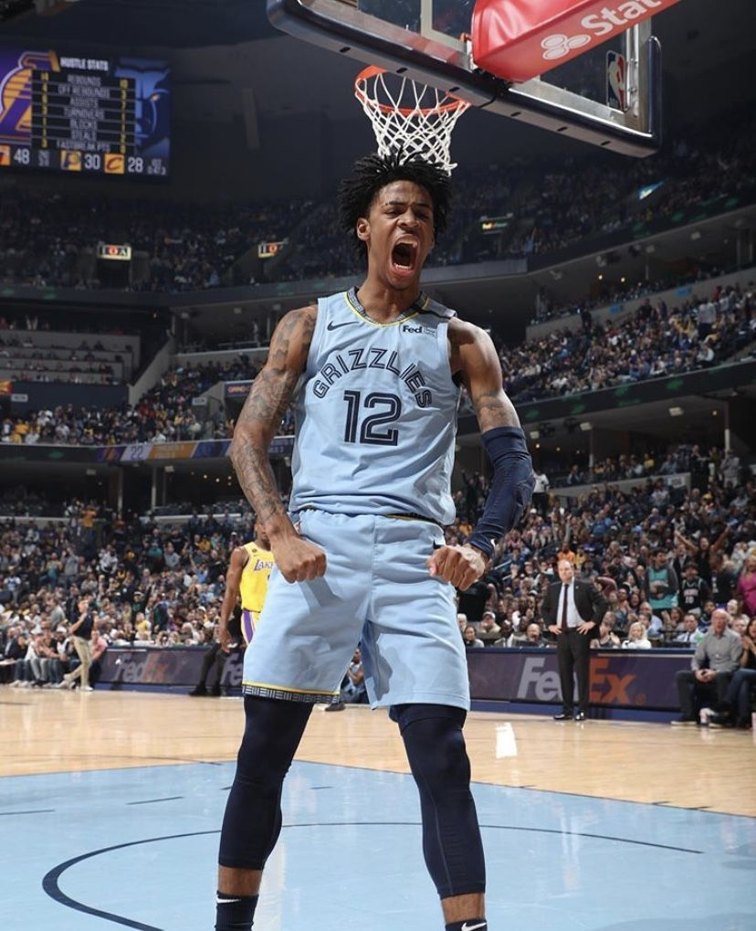 Ja Morant Memphis Grizzlies In 2020 Nba Art Basketball Legends Nba Players