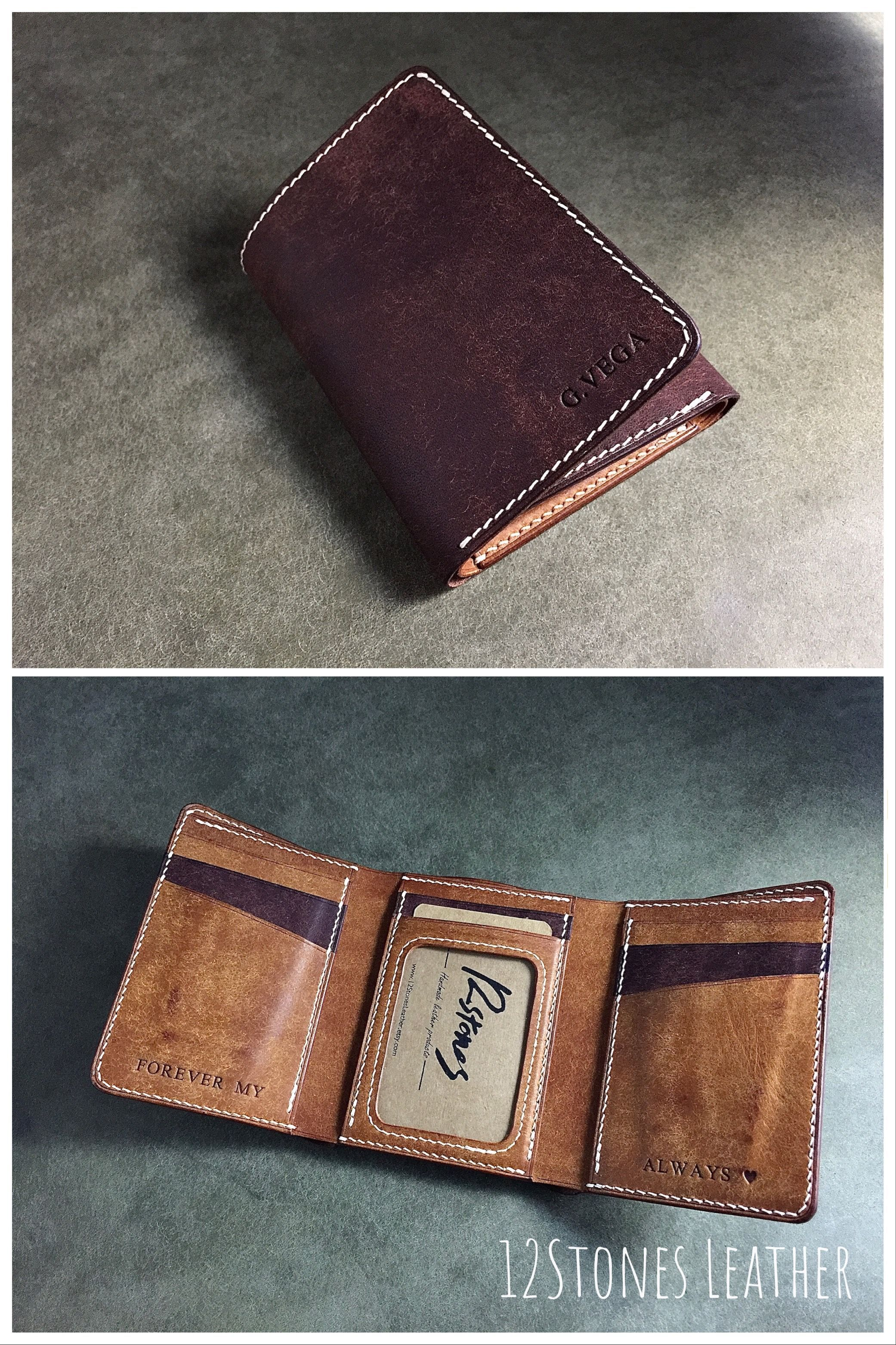 Mens Trifold Wallet Custom Trifold Wallet Genuine Leather Trifold Wallet In 2020 Leather Trifold Wallet Trifold Wallet Genuine Leather