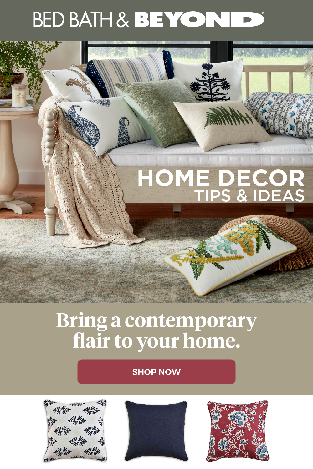 Bring Your Home Decor Ideas To Life With Accessories From Bed Bath Beyond Shop Contemporary Fabric And