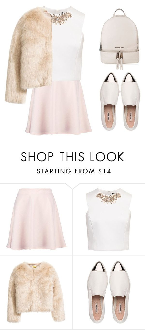 """Royal mania"" by rinaprescott ❤ liked on Polyvore featuring Boohoo, Ted Baker, Miu Miu and MICHAEL Michael Kors"