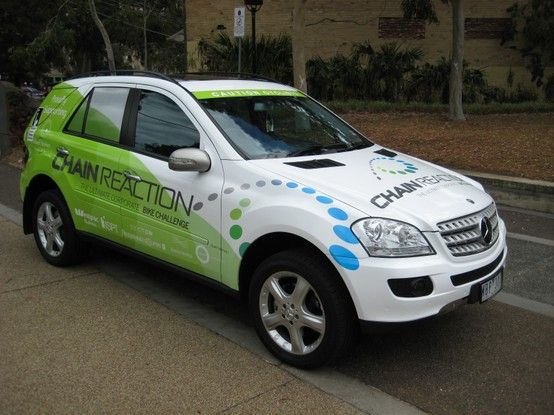 Chain Reaction Vehicle Wrap Vehicle Autoskin Charity