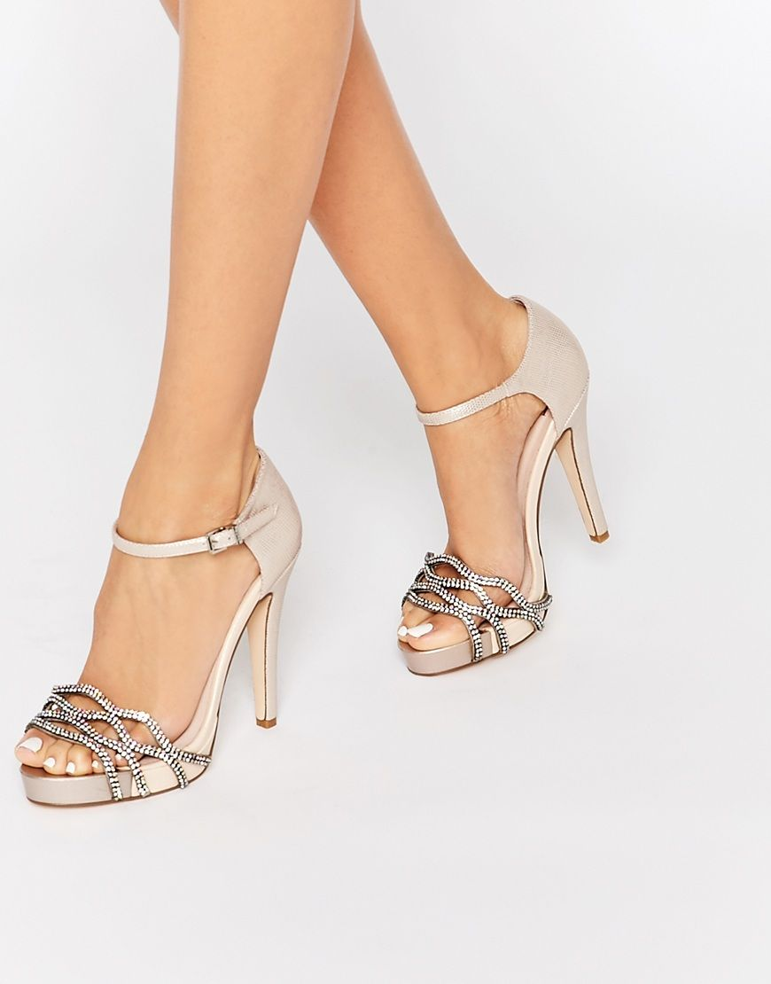 62b7811c9c8 Image 1 of Faith Lethal Nude Occasion Heeled Sandals