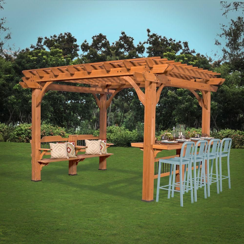 Backyard Discovery Oasis 12 Ft X 10 Ft Pergola 1606517com The Home Depot Backyard Pergola Outdoor Pergola Pergola Plans