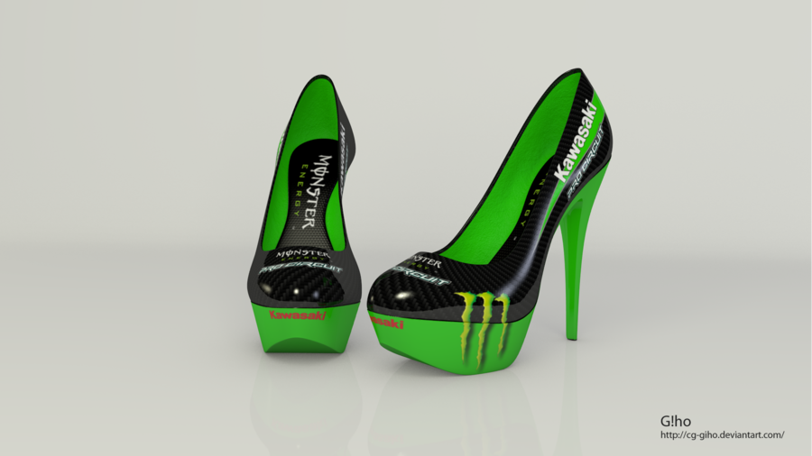 Kawasaki Monster ProCircuit MX Hihg Heels by CG-Giho.deviantart.com ...