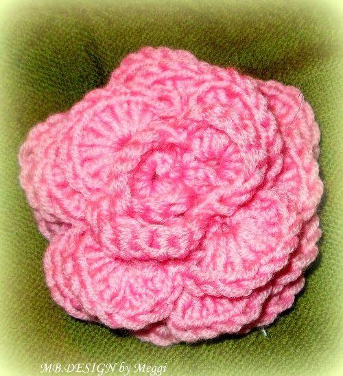 Häkelblume in rosa