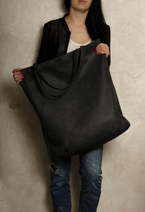 5fb73623 Mega Shopper bag graphite dark grey blazed tote bag shoulder ...