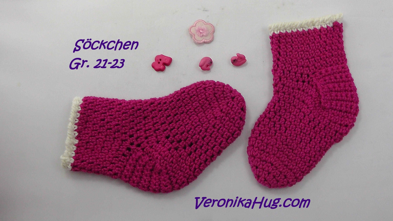 Häkeln Söckchen Babysöckchen Socken Veronika Hug Cipok