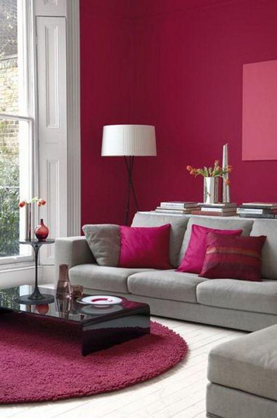 Feng shui elemento fuego usando el color rosa en sala de for Sala de estar feng shui