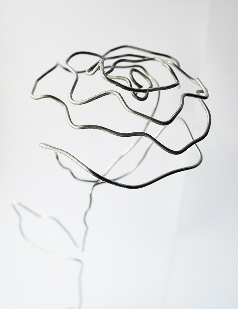 Diy Wire Rose Industrial Decor Craftingfingers Co Uk