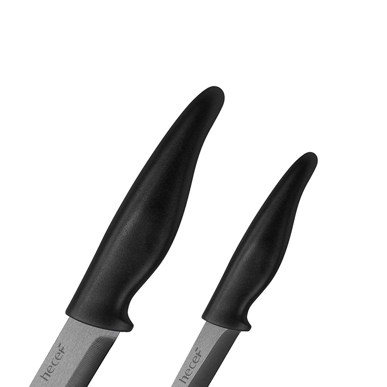 Hecef kitchen ceramic knife set with 3pc ceramic knives