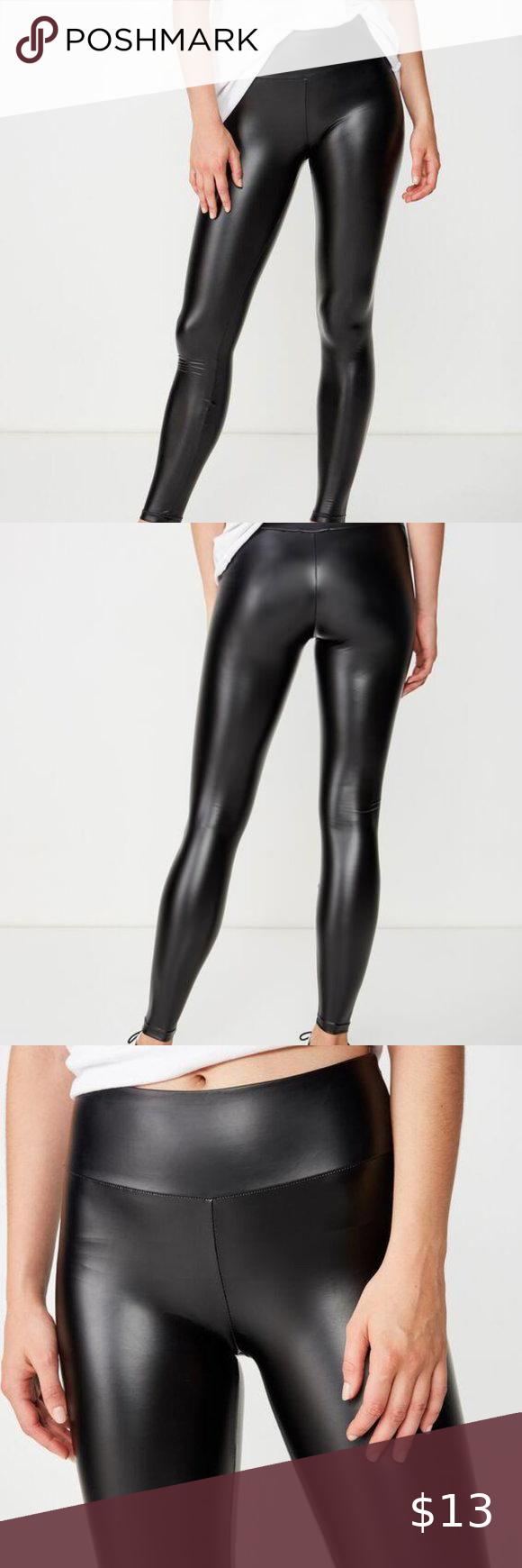 Cotton On Dakota Black Dakota Detail Leggings In 2020 Solid Black Leggings Clothes Design Colorful Leggings
