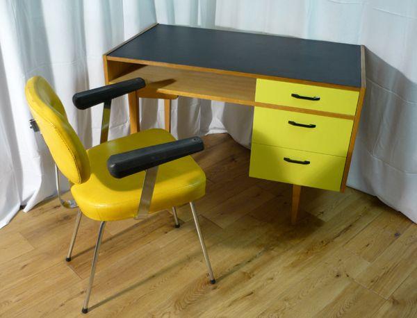 Bureau vintage jaune art de coach inspiration 70 pinterest