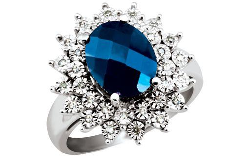 'Twilight' 10K White Gold Blue Sapphire & Diamond Fashion Ring | Charm Diamond Centres