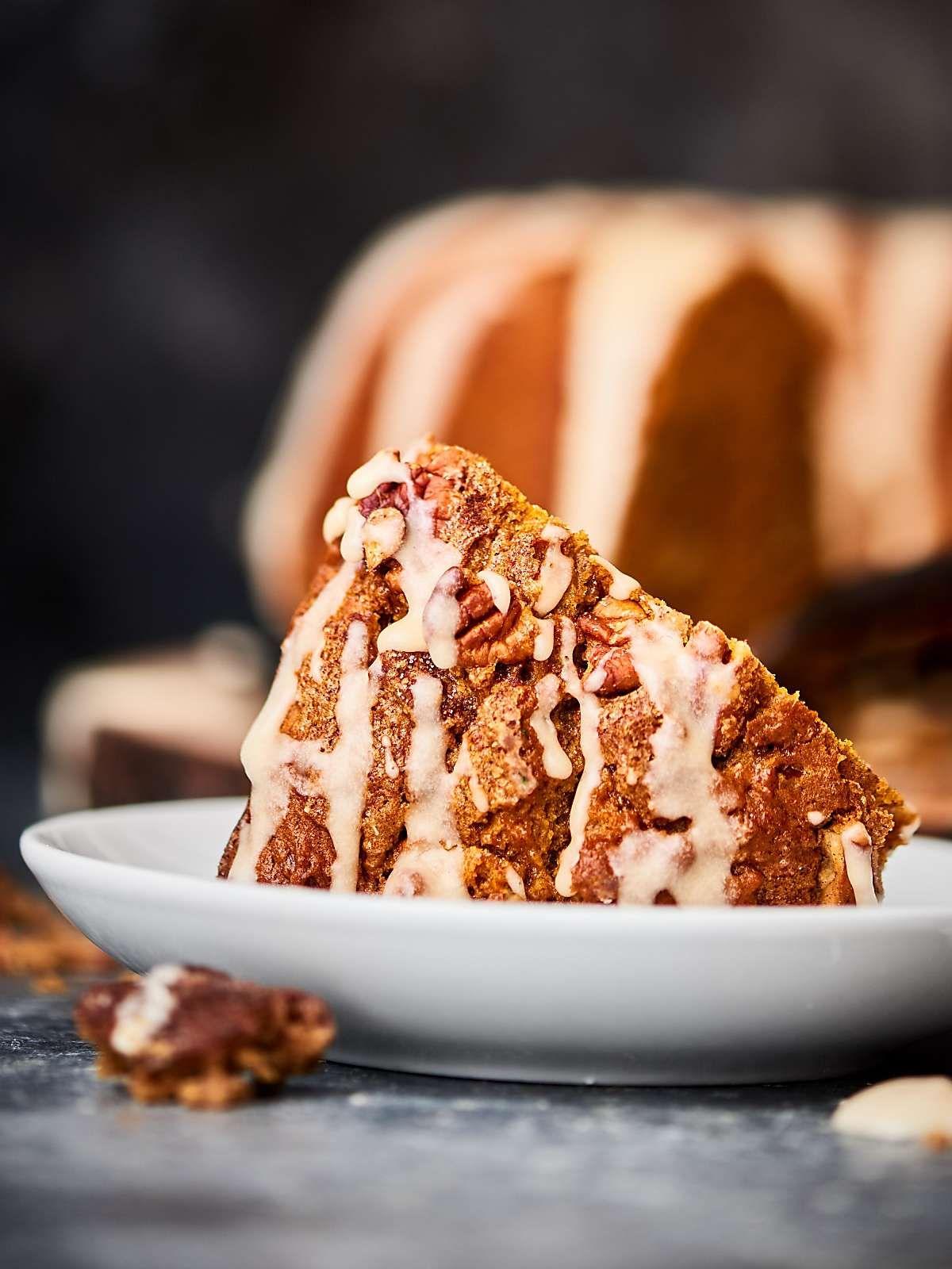 Easy Pumpkin Coffee Cake Recipe w/ Spice Cake Mix