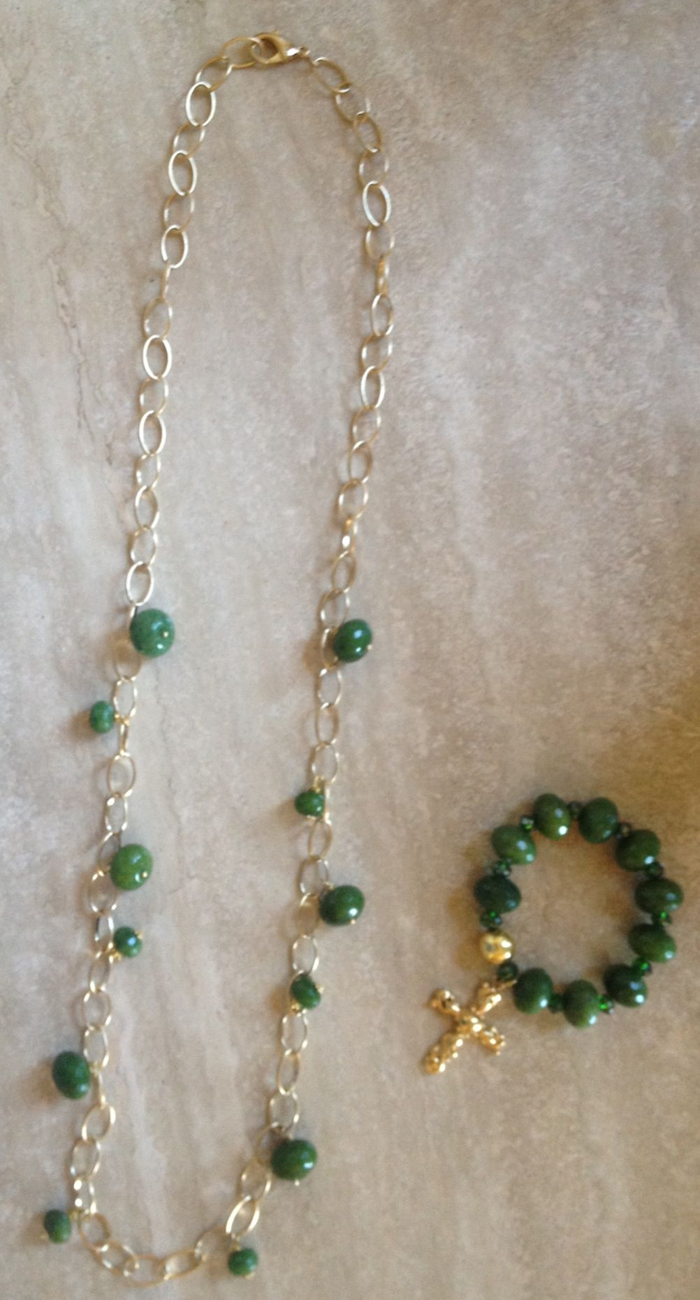 plated jade strand chains silver of product handmade supply beaded gold one craft