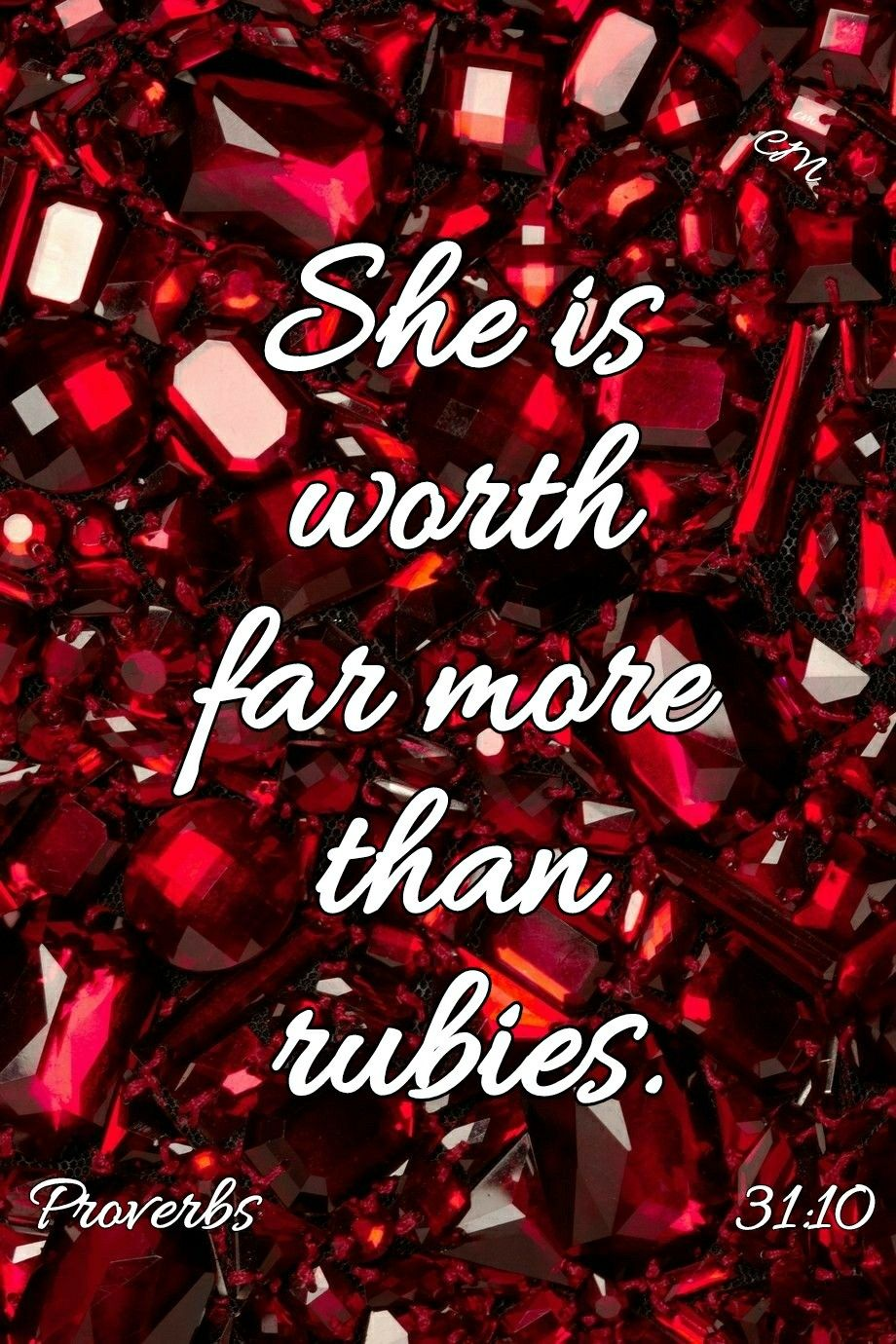 She is worth more than rubies tattoo
