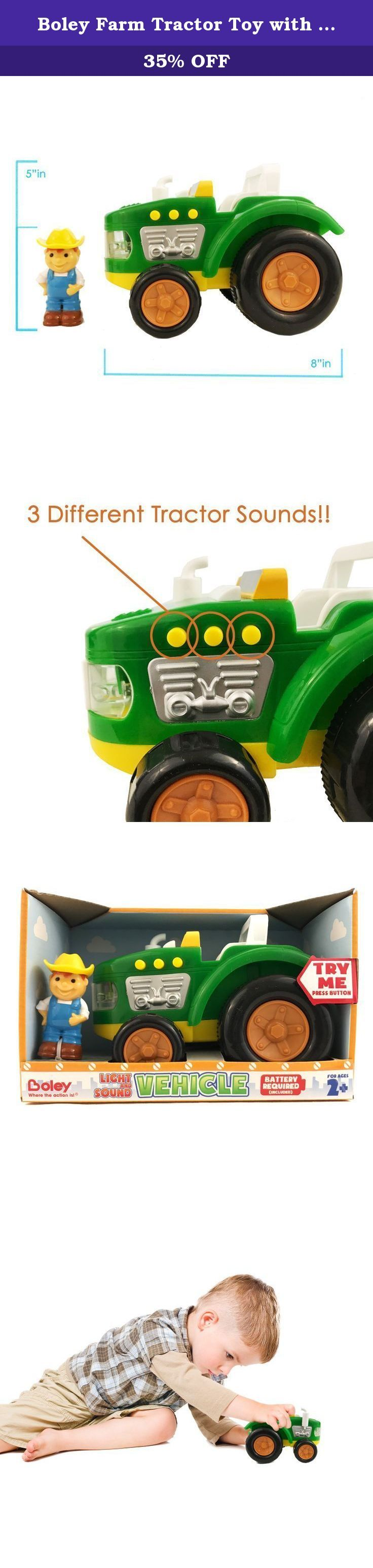 Educational car toys  Boley Farm Tractor Toy with Lights and Sound  Educational toy for