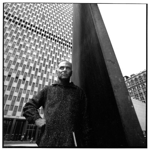 Richard Serra with Tilted Arc for TIME, New York City, photograph by Kim Steele