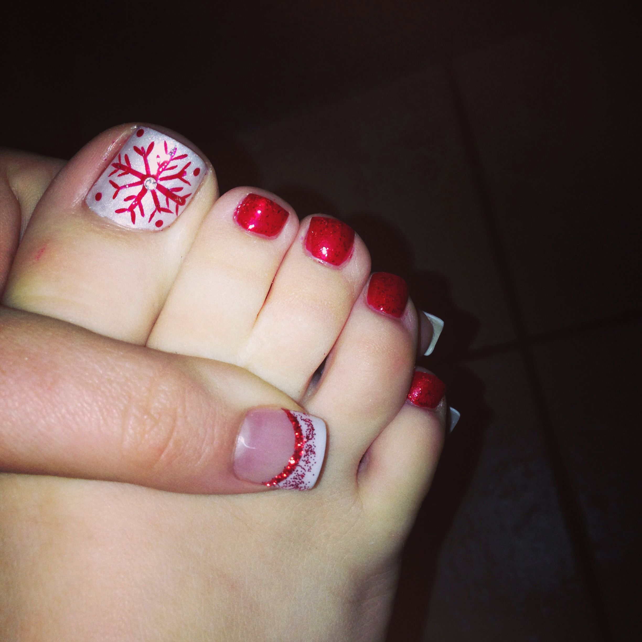 Christmas Nails Pedicure Nails Christmas Nails Toe Nail Art