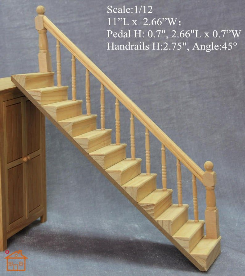 1 12 Scale Diy Dollhouse Miniature Staircase Furniture Etsy In 2020 Diy Dollhouse Dollhouse Miniatures Diy Diy Barbie Furniture