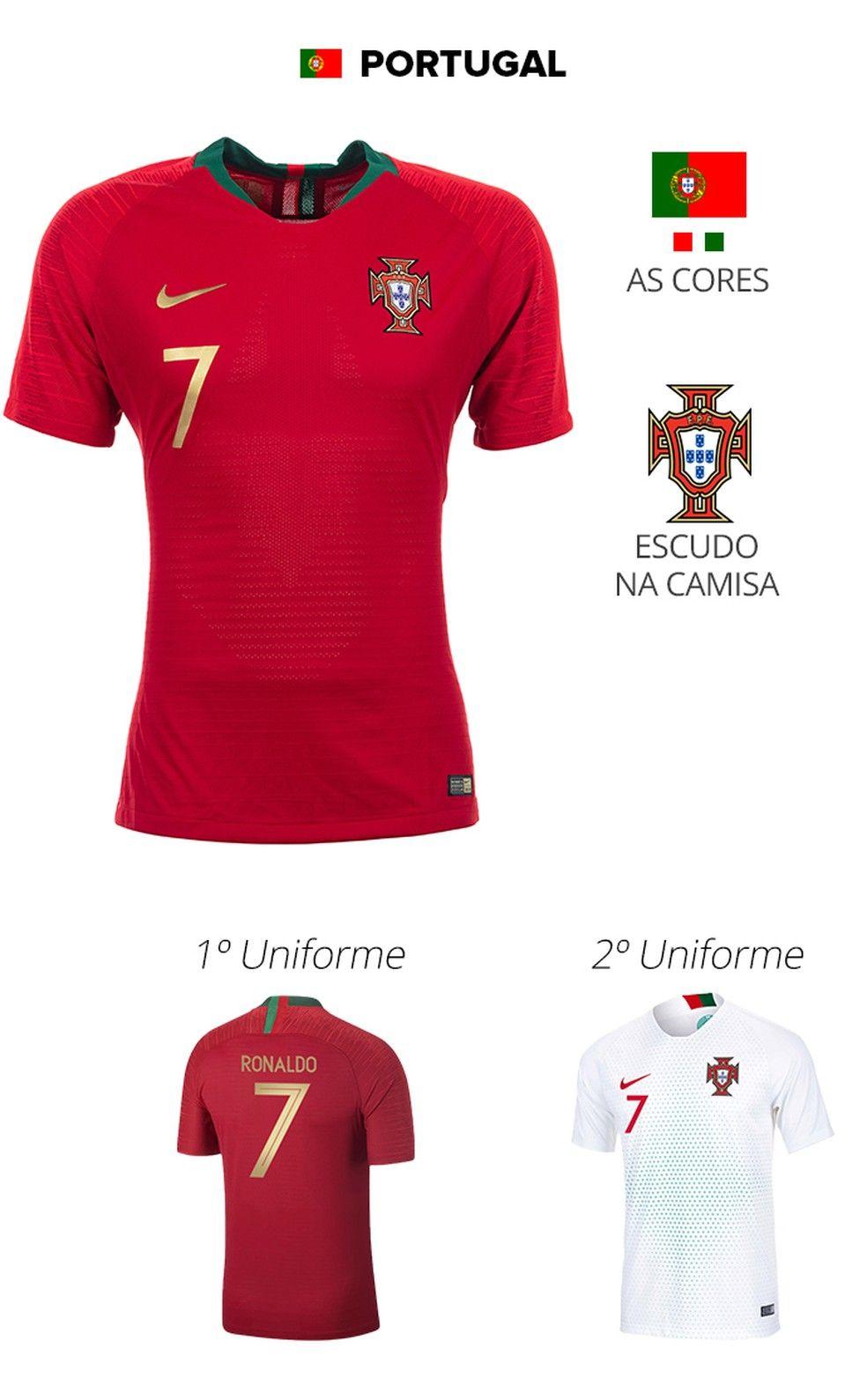 ccef6bd5364a4 As camisas das 32 seleções da Copa