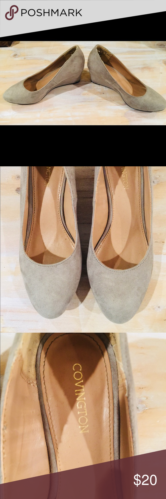 c3db665a7d74 Convington Gray Wedges Size 6 Tread boldly in this women s Arcadia wedge  shoe from Covington.