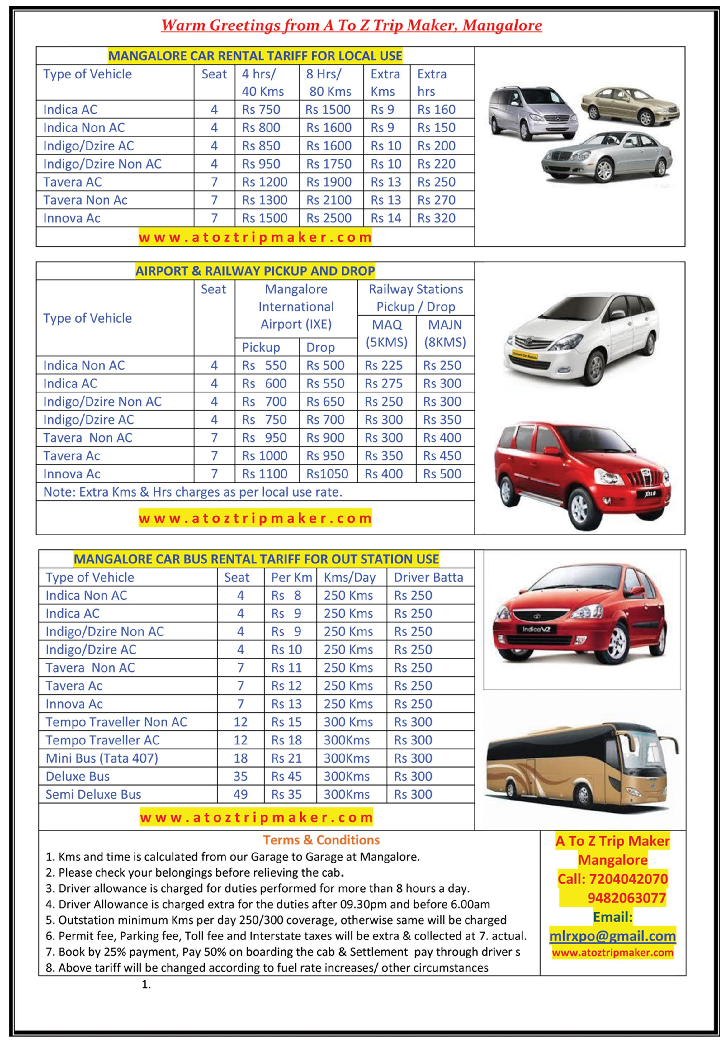 Mangalore Car Rental On Direct Deal From A To Z Trip Maker Car