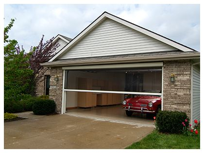 Retractable Garage Door Screens Ventilation And Pest Protection Garage Doors Garage Screen Door Doors