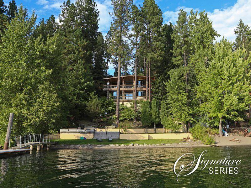 Coeur dalene lake vacation rental bay beach house