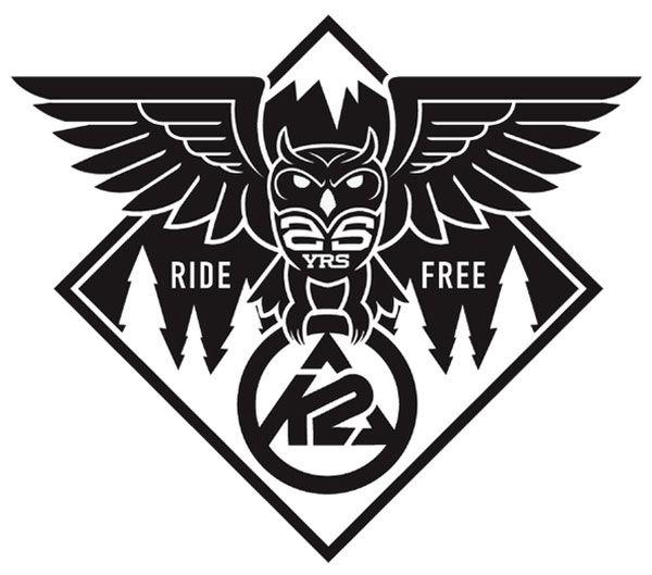 K2 ride free owl logo