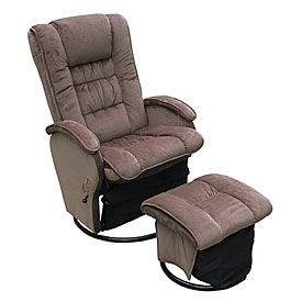 Fabric Glider Recliner With Ottoman At Lots Perfect