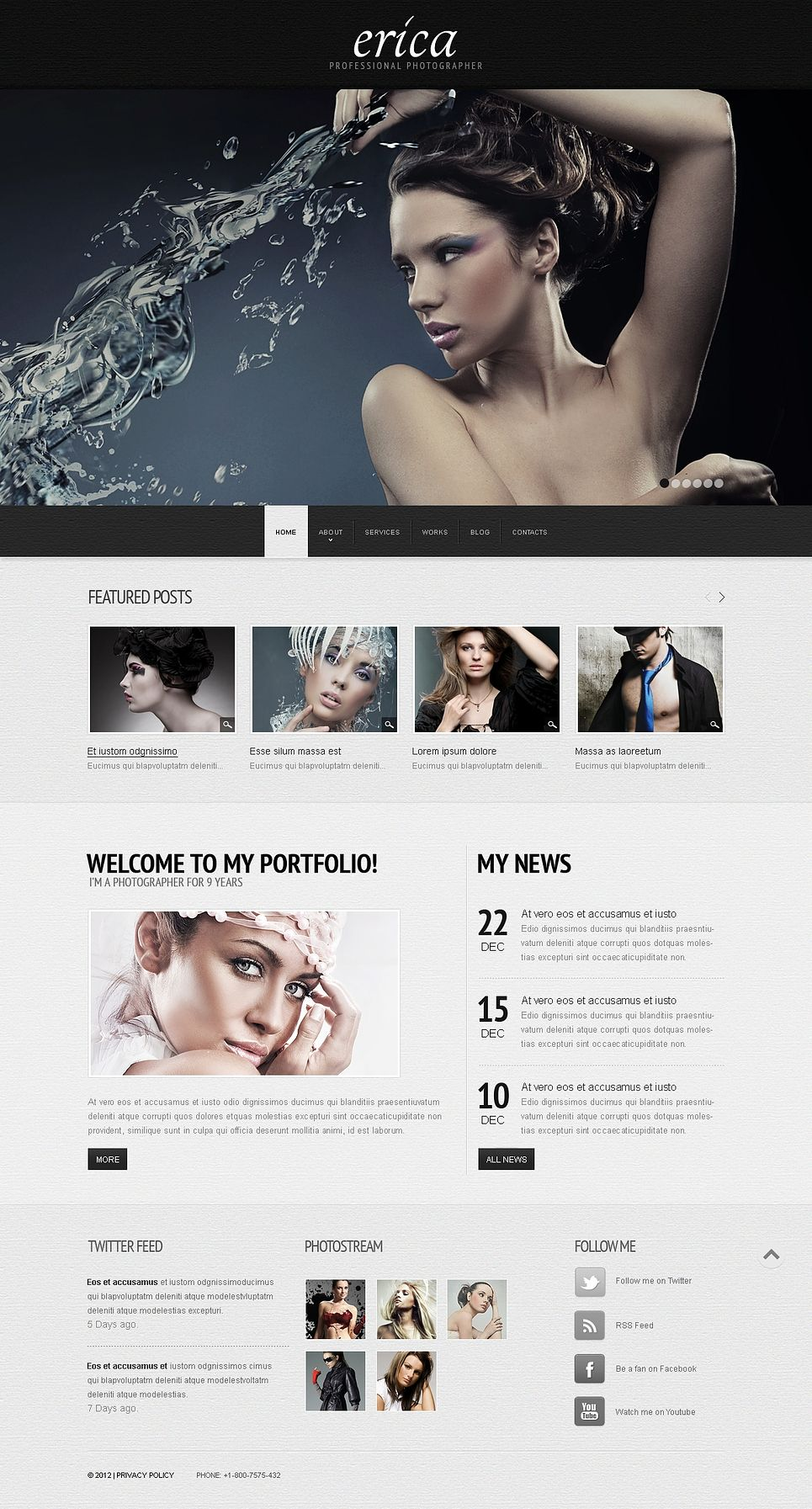 Erica Wix Website Template Template And Website - Wix privacy policy template
