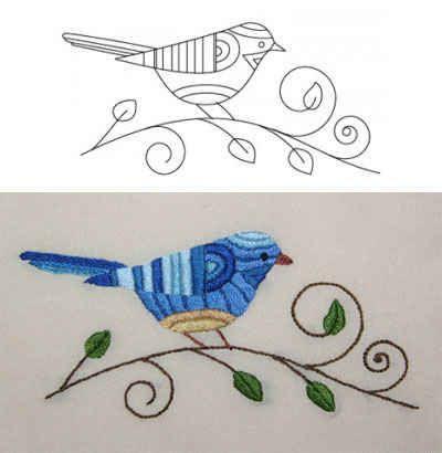 click to close passaro azul bordado bordado pinterest desenhos