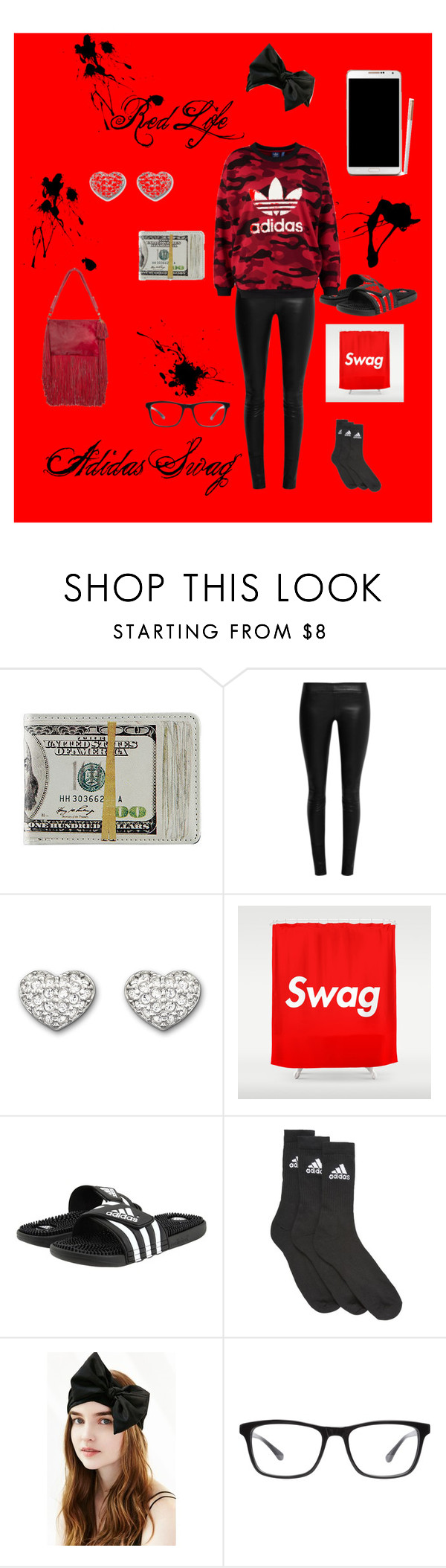 """""""Shush i look better"""" by x-keekee-x on Polyvore featuring The Row, Swarovski, Samsung, adidas, Joseph Marc, adidas Originals, women's clothing, women, female and woman"""