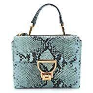 d5a21424a7c0 Coccinelle Women's D5555B701B07 Light Blue Leather Handbag   Gift ...