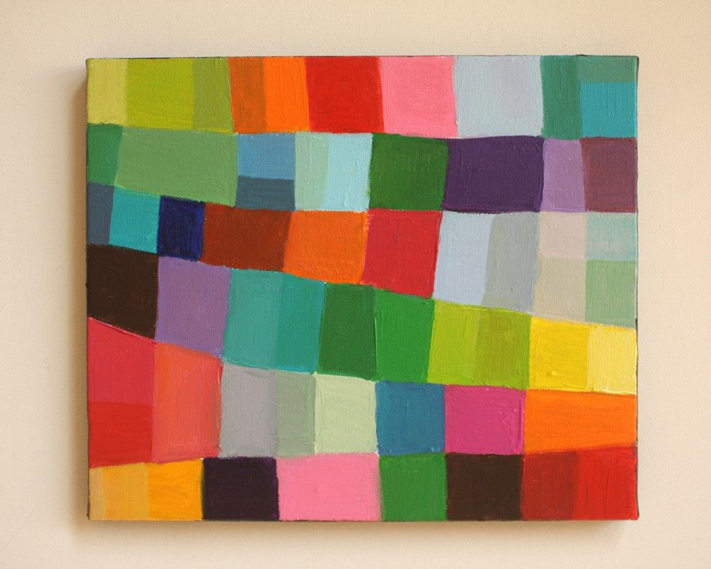 Abstract Painting-original Painting Geometric Shapes