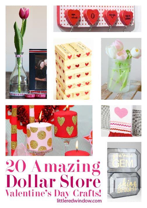 20 Amazing Cheap Home Decor Ideas: 20 Amazing Dollar Store Valentine's Day Crafts