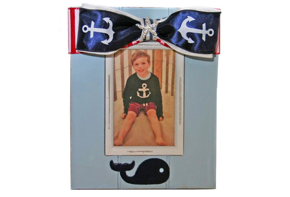 Nautical themes are popular! Show off your little one, or it makes a great baby shower gift too!